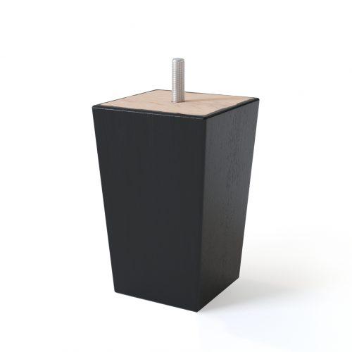 Sleepwell Musta värvi koonusekujulised puitjalad, komplektis 4 jalga.